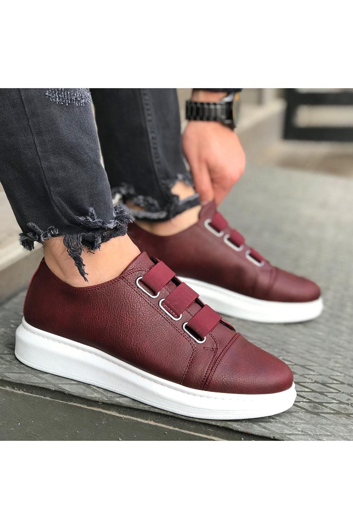 Wagoon WG026 Bordo Kalın Taban Casual Erkek Ayakkabı