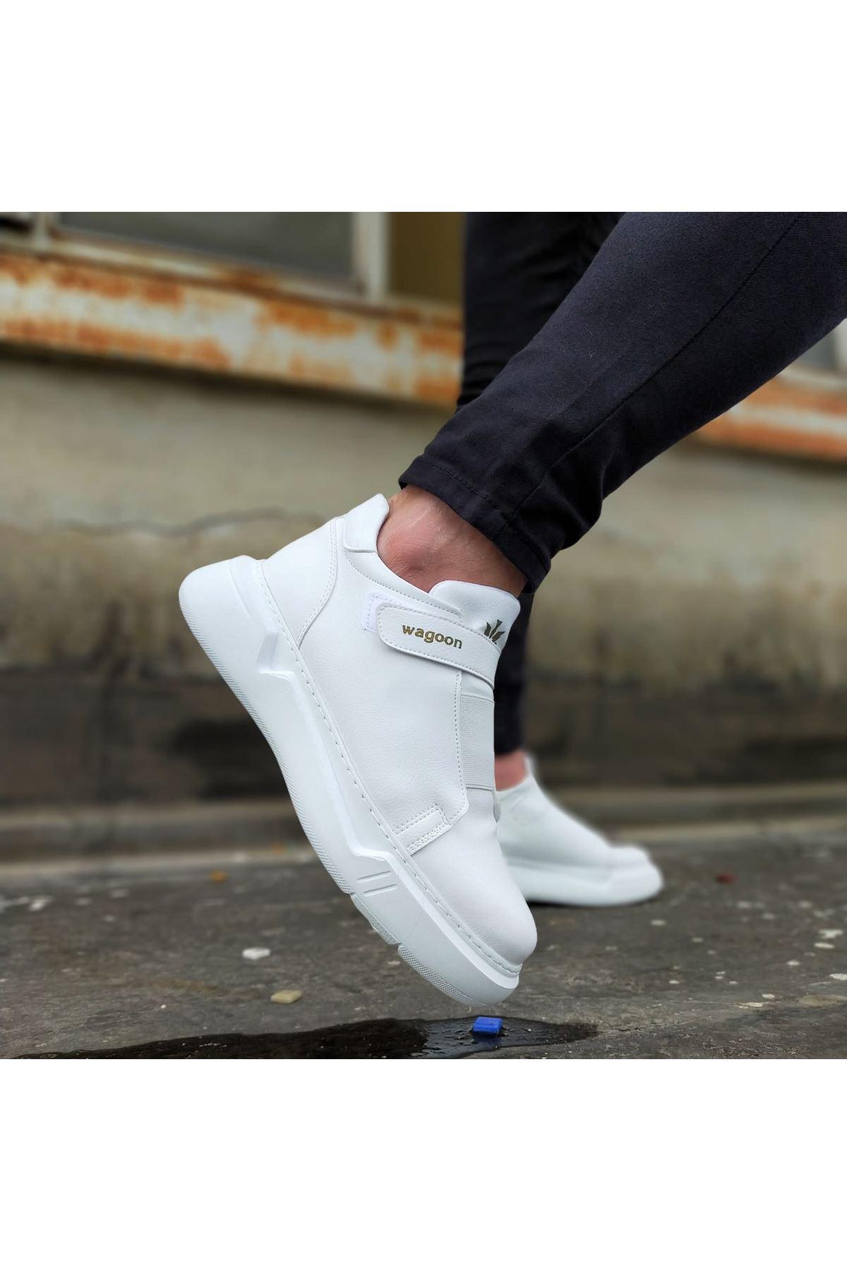 Wagoon WG051 Beyaz Erkek Yüksek Taban Ayakkabı