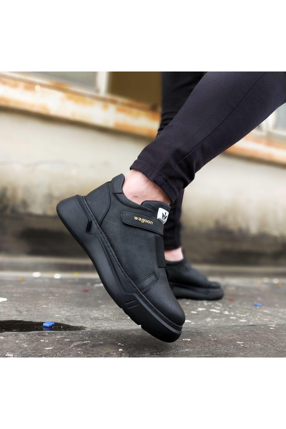Wagoon WG051 Kömür Erkek Yüksek Taban Ayakkabı