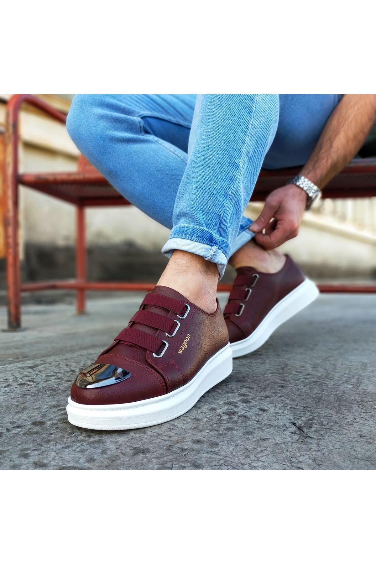 Wagoon WG026D Bordo Kalın Taban Casual Erkek Ayakkabı