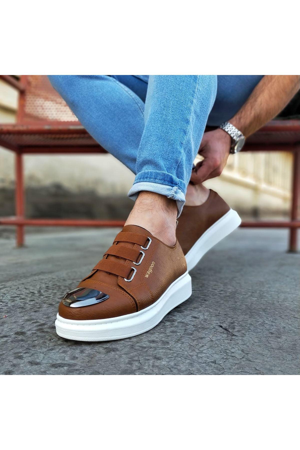 Wagoon WG026D Taba Kalın Taban Casual Erkek Ayakkabı