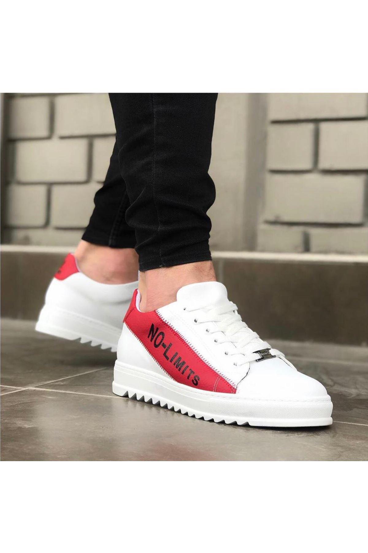 Wagoon WG027 Beyaz Kırmızı No Limit Erkek Casual Ayakkabı