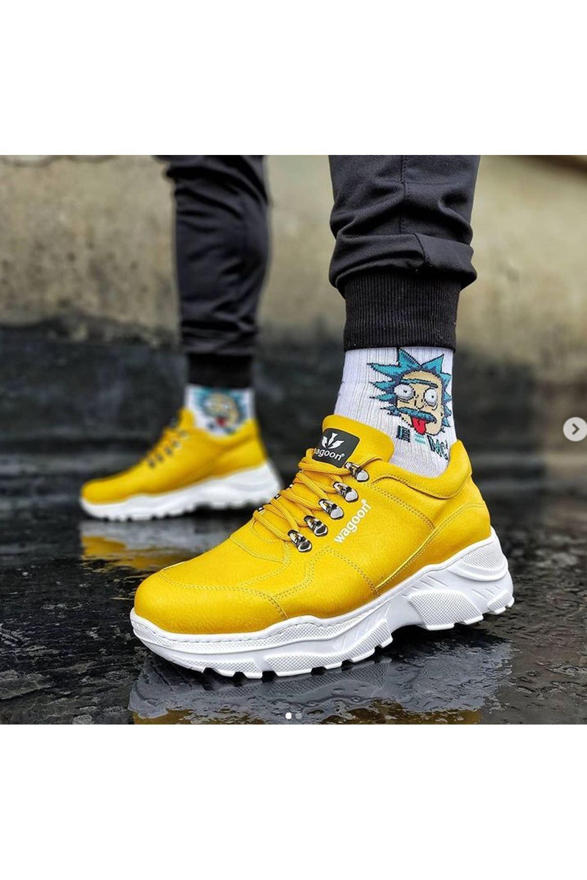 Wagoon WG019 Sarı Erkek Yüksek Taban Ayakkabı