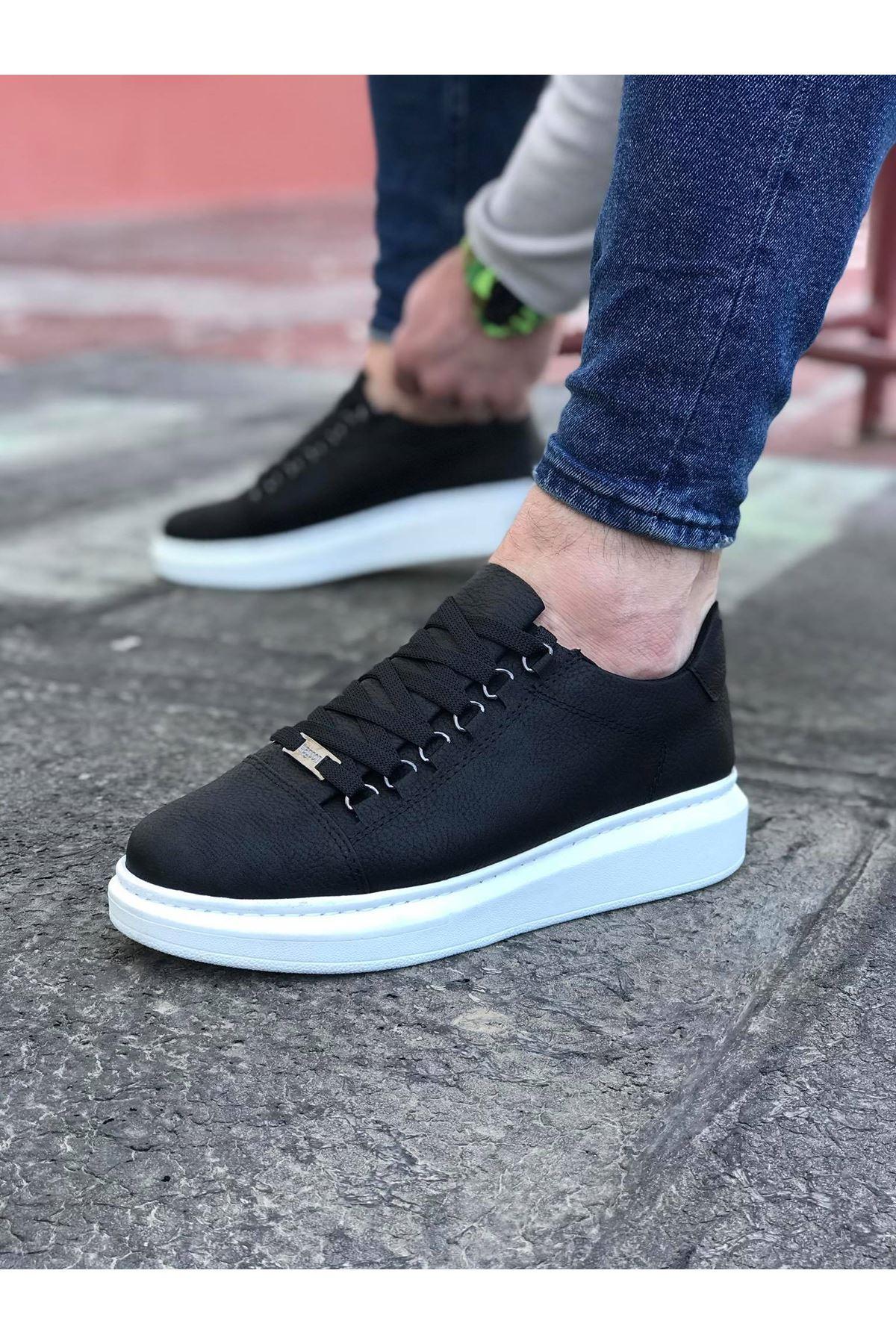 Wagoon WG08 Siyah Erkek Casual Ayakkabı