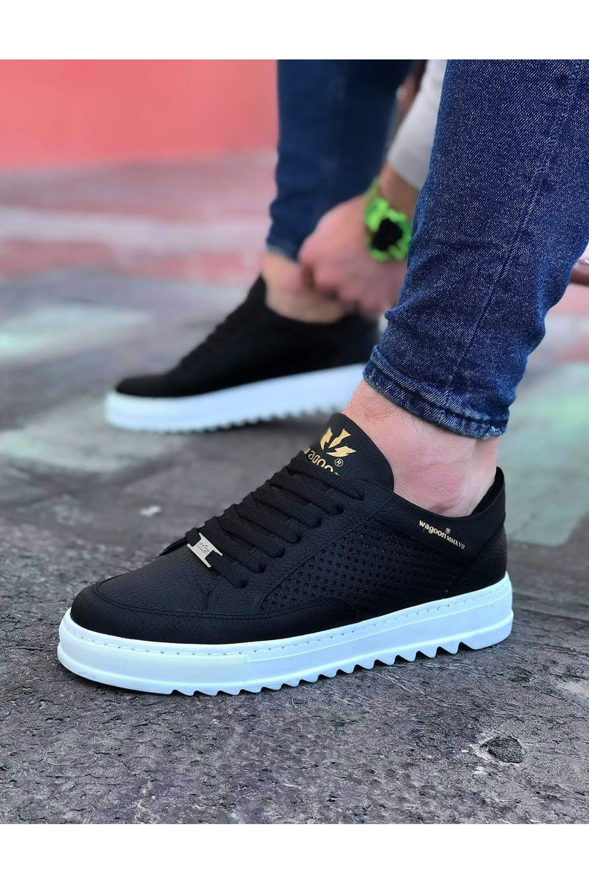 Wagoon WG505 Siyah TR Erkek Günlük Ayakkabı