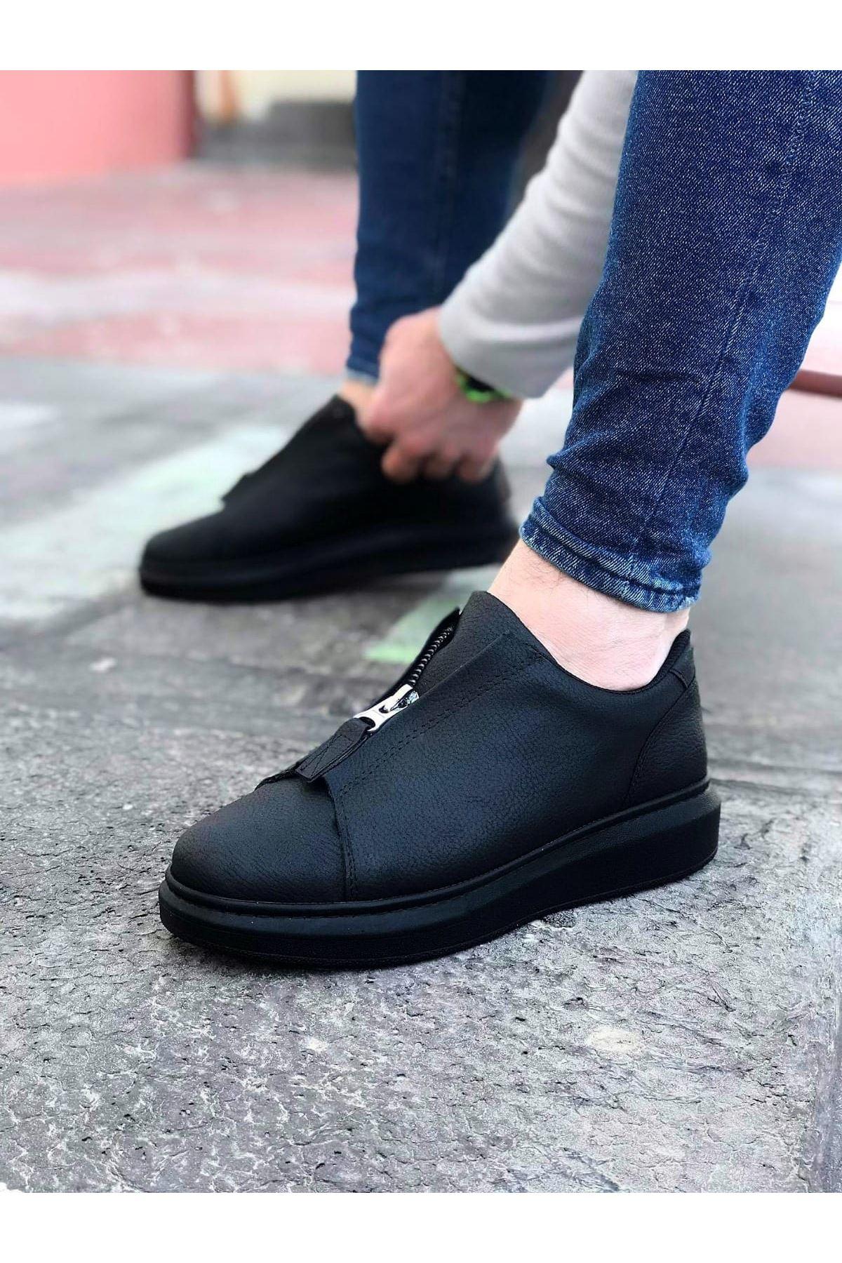 Wagoon WG010 Kömür Cilt Erkek Casual Ayakkabı