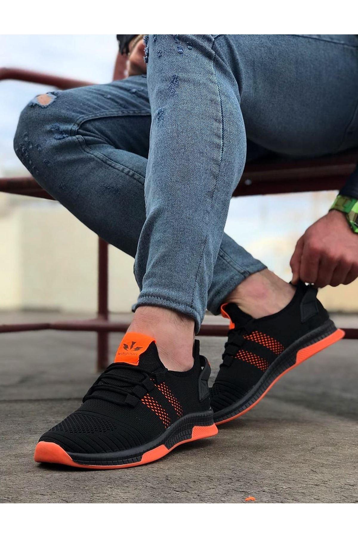 Wagoon WG101 Siyah Turuncu Erkek Spor Ayakkabı