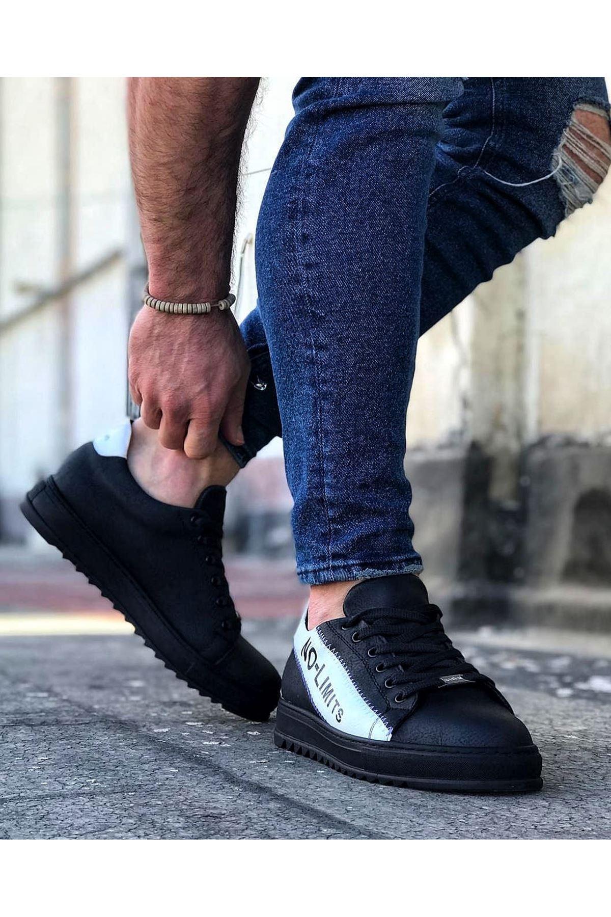 Wagoon WG027 Kömür Beyaz No Limit Erkek Casual Ayakkabı