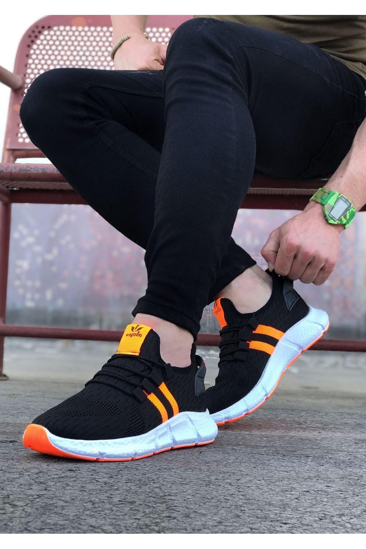 Wagoon WG102 Siyah Turuncu Erkek Spor Ayakkabı