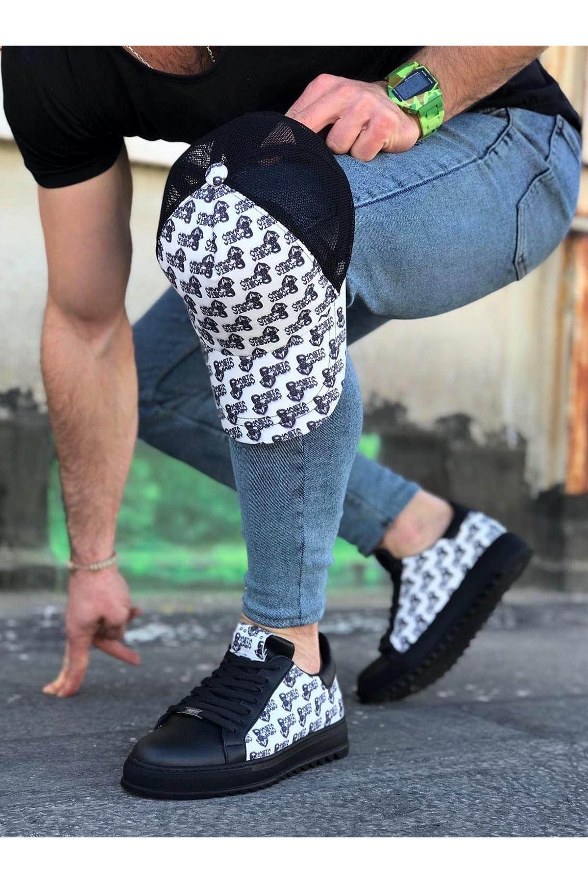 Wagoon WG01 Kömür Terminatör Baskılı Erkek Casual Ayakkabı