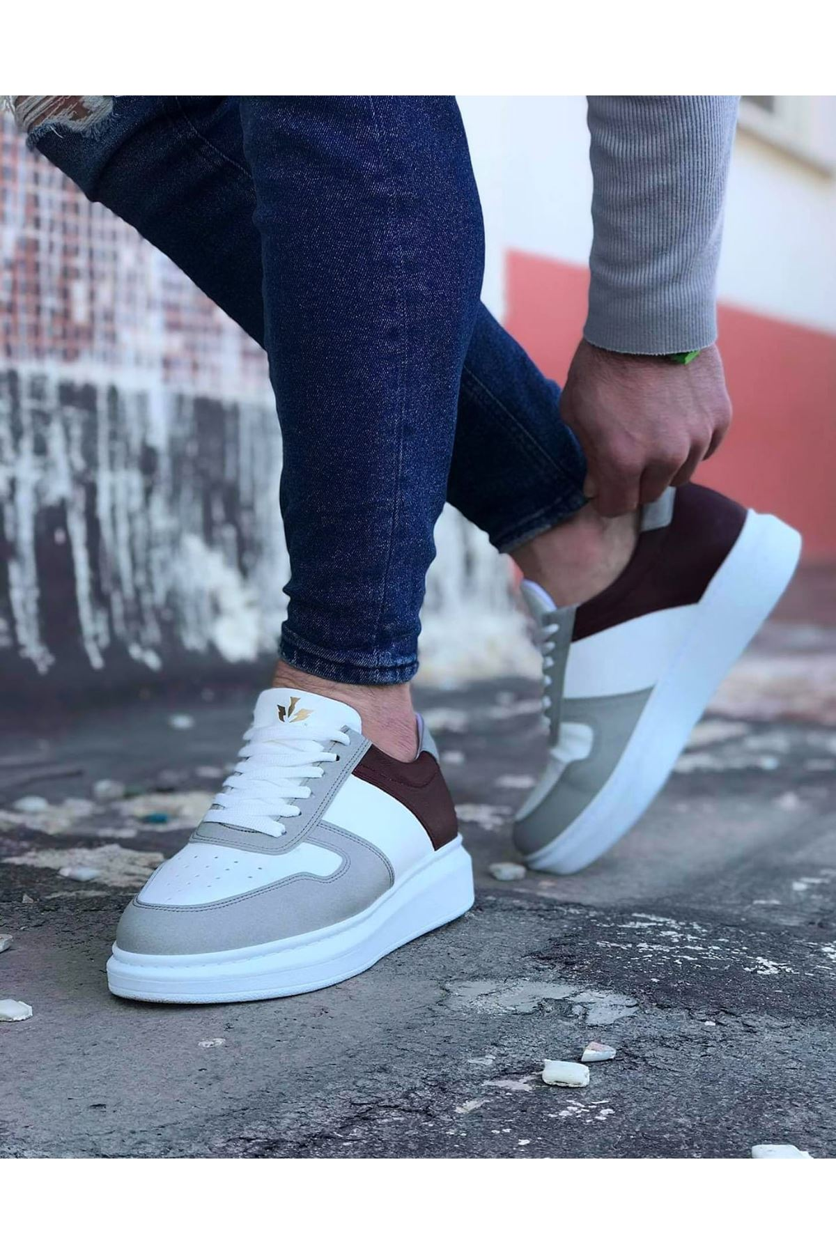 Wagoon WG011 Beyaz Taba Erkek Casual Ayakkabı