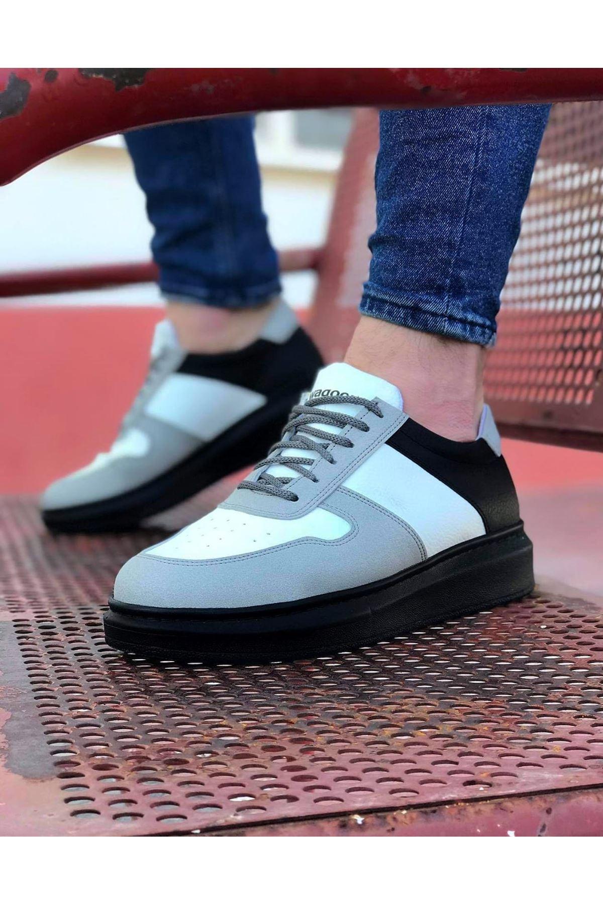 Wagoon WG011 Beyaz Kömür Erkek Casual Ayakkabı